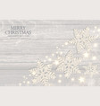 merry christmas elegant background with silver vector image vector image
