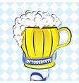 Oktoberfest background Bavarian pattern beer vector image vector image
