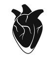 organ human heart icon simple style vector image vector image
