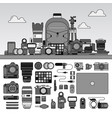 photographer tools isolated line flat line vector image vector image