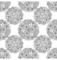 seamless pattern decorative floral mandalas vector image vector image