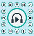 set of simple music icons elements again melody vector image vector image