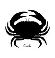 silhouette of brown crab vector image vector image