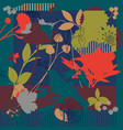 silk scarf with blooming poppies vector image vector image