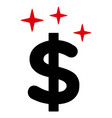 sparkle dollar symbol icon vector image