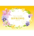 Spring yellow background Easter Mothers day vector image vector image