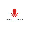 squid logo design template vector image