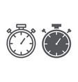 stopwatch line and glyph icon measure and vector image vector image