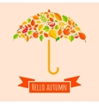 Umbrella from fall leaves vector image vector image