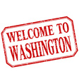 Washington - welcome red vintage isolated label vector image vector image