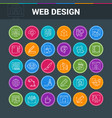 Web design colorful icon set