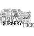 what you need to know about tummy tuck surgery vector image vector image