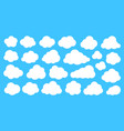 white cloud shapes on blue sky flat cartoon set vector image