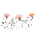 Wild flower field vector image