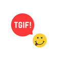 yellow drunk emoji tgif logo like thank god it is vector image