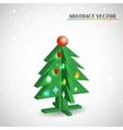 Christmas tree 3d vector image