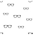 glasses seamless pattern vector image