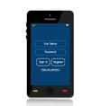 login mobile interface vector image