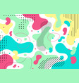 abstract colorful liquid shape and pebble pattern vector image vector image