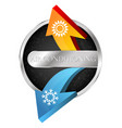 air conditioner warm and cool symbol vector image vector image