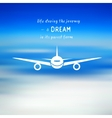 Airplane on a blue sky background vector image vector image