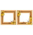autumn frames set leaves on vector image