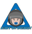 baby on board triangle warning sign for vehicle vector image vector image