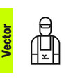 black line car mechanic icon isolated on white vector image vector image
