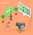 blogger flat isometric concept vector image