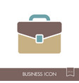 briefcase outline icon business sign vector image
