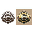 coffee house emblem badge label or logo vector image vector image