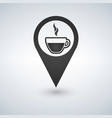 coffee shop location with coffee cup icon filled vector image vector image
