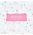 Colorful bubbles frame seamless pattern background vector image vector image