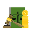 corrupt and bribery judge and judgment vector image vector image