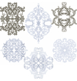 damask pattern elements set vector image vector image