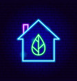 eco house neon sign vector image vector image