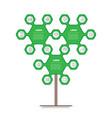 eco infographics sustainable development green vector image