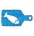 fish cutting board halftone dotted icon vector image