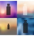 flash icon on blurred background vector image