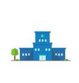 flat hospital buiding outdoor design icon