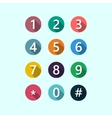 Flat numbers color vector image vector image