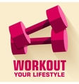 Flat sport workout icon background concept vector image vector image