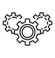 gear teamwork icon outline style vector image vector image