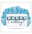 Gift card with balloons vector image
