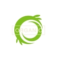 Green Swirl Organic Product Logo vector image vector image