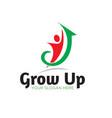 grow up business success logo designs vector image