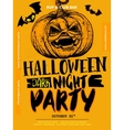 Halloween Boo poster vector image vector image