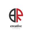 initial letter br creative elegant circle logo vector image vector image