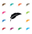 isolated feather icon pen element can be vector image vector image