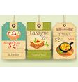 Italian Food - Set of Tags vector image vector image